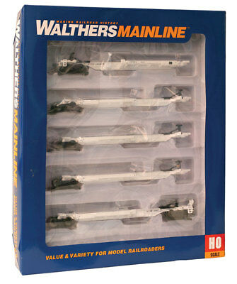 Walthers HO Scale Five-Unit All-Purpose 48' Spine Car Santa Fe/ATSF #298945