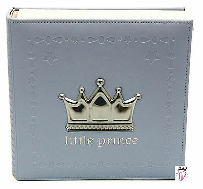 Baby Boy Blue Prince photo safe 200 slip in photo album gift Baby Girl Gift
