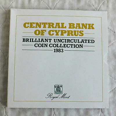 CYPRUS 1983 6 COIN BRILLIANT UNCIRCULATED SET -  sealed pack