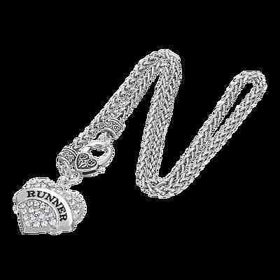 Runner Pave Heart Necklace