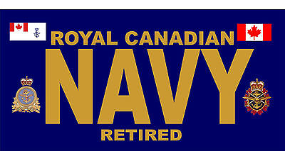 Royal Canadian Navy  RETIRED vanity plate