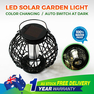 Portable Solar Powered LED Hanging Garden Light Lantern Decor Lamp Outdoor Yard