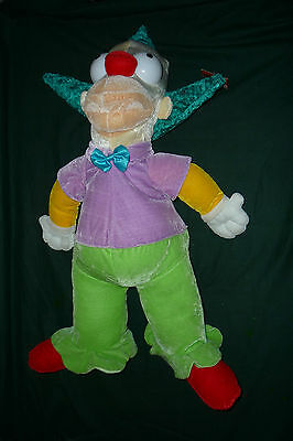 """Massive 27"""" Plush Krusty The Clown Simpsons Stuffed Toy With Tag NWT Clean!!"""