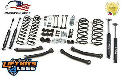 "1997-2002 Jeep Wrangler TJ LJ 4"" Full Suspension Lift kit Zone Offroad J10 m/USA"