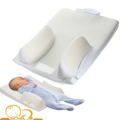 Newborn Baby Infant Anti Roll Pillow Sleep Positioner Prevent Flat Head Cushion