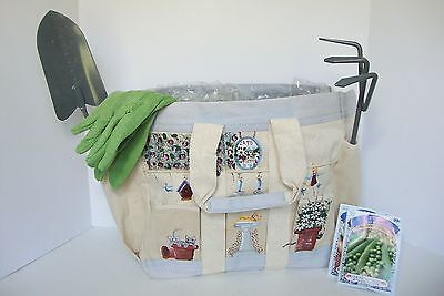 Kathy Hatch Garden Cat Tote Bag and Tools Set