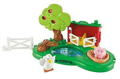 Fisher Price Little People  Pig Pen & Pond - 5 Fun Activities With Duck & Pig