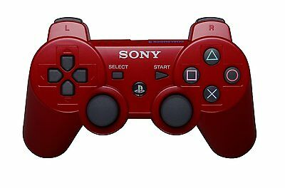 Official SONY PS3 DualShock Wireless Controller Red *NEW*+Warranty!