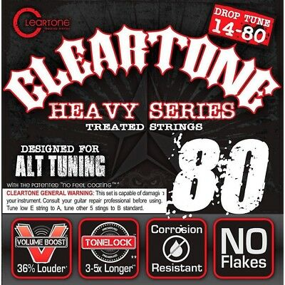 Cleartone Monster Heavy Series Nickel-Plated Drop A Electric Guitar Strings. Fre