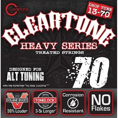Cleartone Monster Heavy Series Nickel-Plated Drop C Electric Guitar Strings. Del