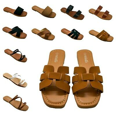 New Women  Gladiator Flip Flops Open Toe Flat Thong Ring Sandals