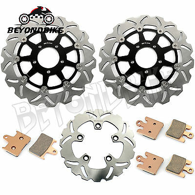 Front Rear Brake Discs Disks Rotors Pads for GSXR GSX-R 1000 GSX1000R K3 03 New