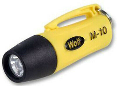 Wolf  M-10 Micro Torch 1 Led Atex Straight Range 2.5M Luminosity 18cd Neck Cord