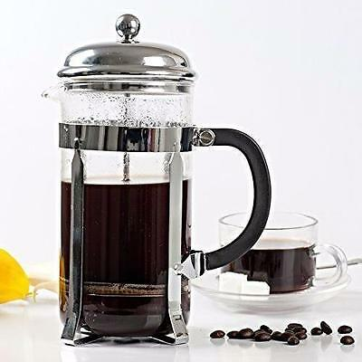 350ml Stainless Steel Glass Coffee Cup French Plunger Press Tea Maker Cafetiere