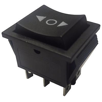 Black DPDT On-Off-On Momentary Rocker Switch 15A 250VAC 22x30 6 pins
