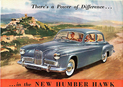 Humber Hawk Mk VI 1954-56 Export Markets Sales Brochure In English