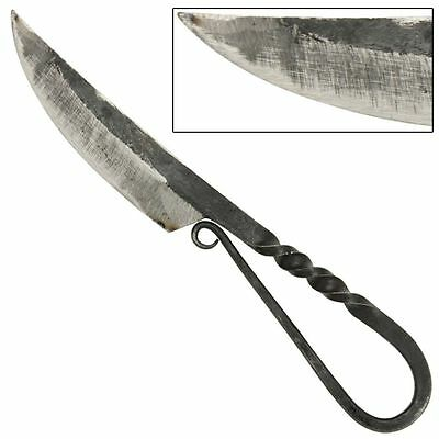 Viking German Iron Age Hand Forged High Carbon Steel Curved Antiqued Aged Knife