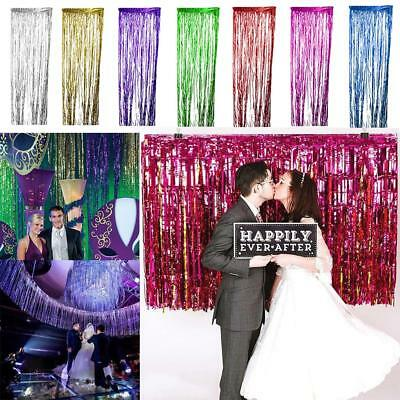Shiny Tinsel Foil Fringe Door Window Curtain Wedding Party Decoration