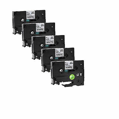 Black on Clear Tape For Brother TZ TZe 121 P-touch PT-H100 9mm Label Maker 5PK