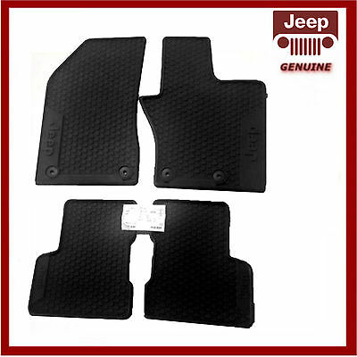 Genuine Jeep Renegade 2015 Onwards Front & Rear Rubber Mats. New. 71807886