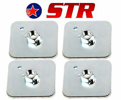 Racing Harness/Seat Belt Mounting Back Plate Backing, Eyelet Plates  (x4 Pieces)
