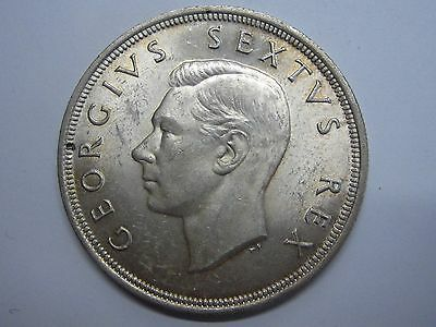 1949 George Vi 5 Shillings Sudafrika Silber South Africa British