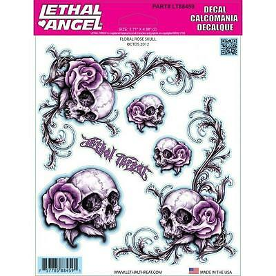 Lethal Threat Sticker Decal Anywhere Motorbike Helmet Boards Tablet IPad LT88459