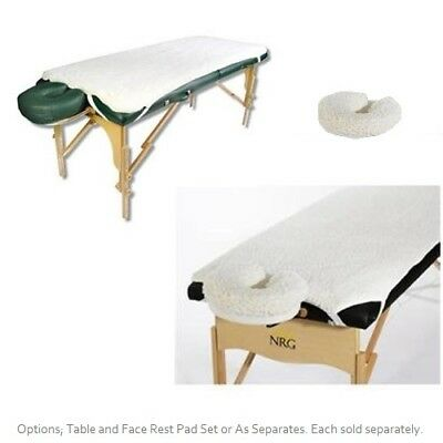 NRG Fleece Massage Table Pad and Face Rest Cover Set - SC2290046