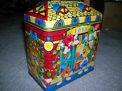 1996 M & M 's Candy Tin Of The Toy Store Collectible