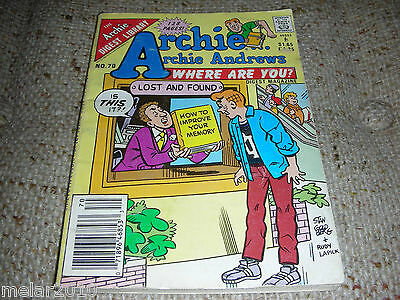 Archie Archie Andrews Where Are You Comic Digest  Magazine # 70 Oct 1990