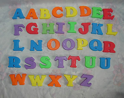 35 Fisher Price Magnetic Letters Magnets - Not Complete Alphabet - Braille