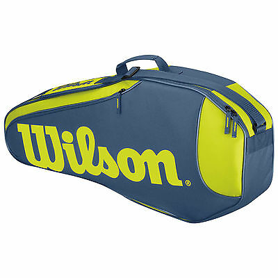 Wilson Burn Rush Team 3 Pack Tennis Bag Ltd Edition  Blue / Yellow