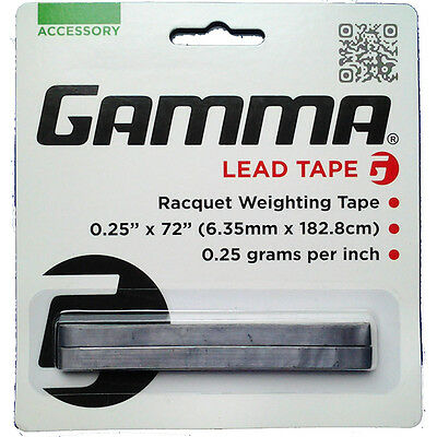 Gamma Lead Weight Tape 1/4 Inch X 72 Inch For Tennis, Golf Squash Customisation
