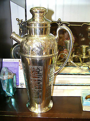 1933 Bernard Rice What'll Yer Have? Apollo Cocktail Shaker NICE!!