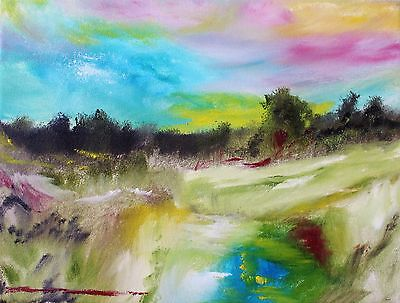 Original Oil Painting landscape abstract art signed 9x12