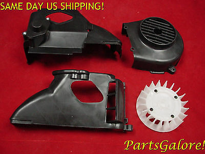 Cooling Fan, Cover & Shroud Set GY6 50 50cc Honda Chinese European Scooters