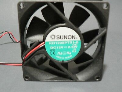 "SUNON KD1208PTS1-6 FAN 80X80X25mm 12VDC 2.6W ""US SELLER"" ""FREE US SHIPPING"""