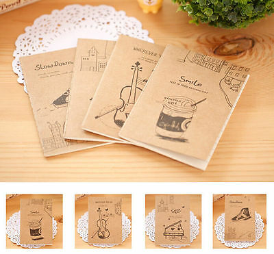 FD4442 Creative Retro Note Journal Diary Sketch Kraftpaper Cover Notebook 1PC^