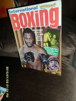 1975 International Boxing Magazine Frazier Conteh