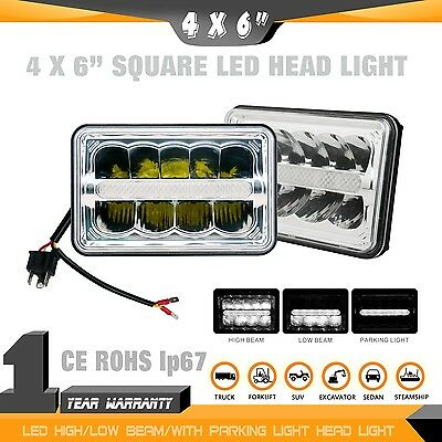 "2pcs 4x6"" HIGH/LOW BEAM SQUARE HEADLIGHT /WORK LIGHT FOR OFF-ROAD,FORKLIFT TRUCK"