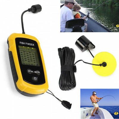 100M Portable Fish Finder filaire sans fil profondeur Sensor Sounder Transducer