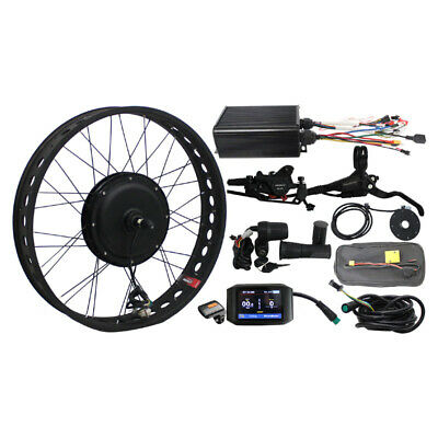 48v 1500w Fat Bike Fat Tire Front Wheel Ebike Conversion Kit Sine Wave Regen