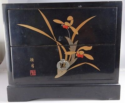 YA10 Small Accessory case Chest of drawers Japanese Vintage Gold lacquer MAKI-E
