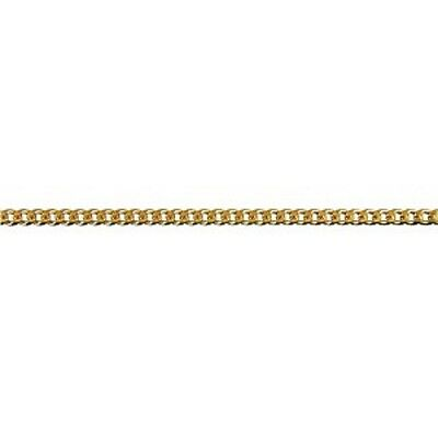 NEW Genuine 9ct 9k Yellow Solid Gold Bevelled Curb Diamond Cut Ladies Anklet