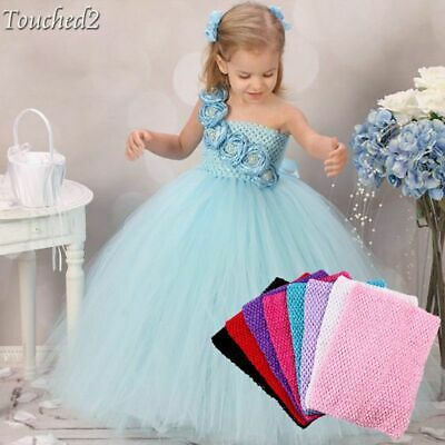 "9"" 12"" Baby Girl Kids Crochet Tutu Tube  Chest Wrap DIY Tulle Head skirt Clothes"