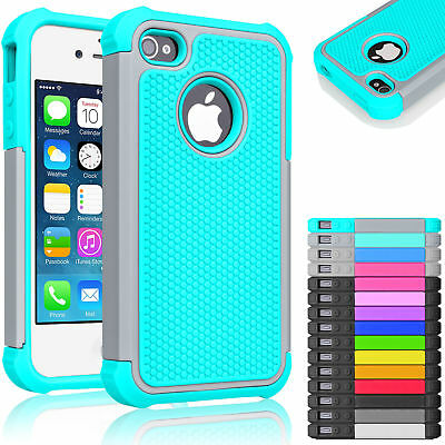 Hybrid Rugged Rubber Hard Shockproof Case Cover Skin for iPhone 5 SE 5S