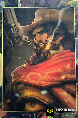 Overwatch Mccrea Vintage Style Home Decor Poster Wall Mural Paintings 42*29.7cm