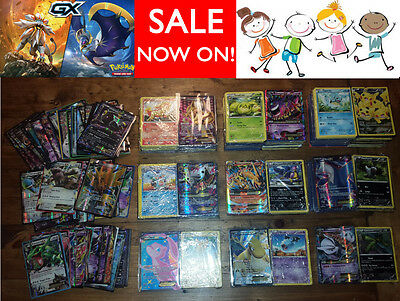 50 Pokemon Cards Bulk Lot - Guaranteed GX / EX / MegaEX +6 Holo & Rare Gift Pack