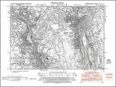Ebbw Vale, Tredegar, old map Monmouth 1949: 11SW repro Wales