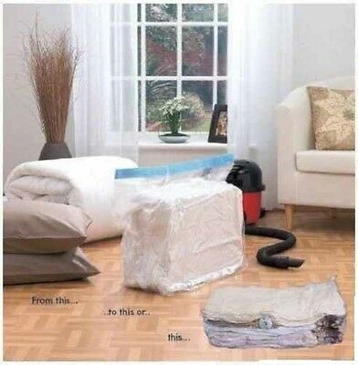Set Of 2 Extra Large Gusseted Vacuum Vac Pack Blanket Duvet Bedding Storage Bags